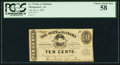 Obsoletes By State:Alabama, Montgomery, AL - State of Alabama 10¢ Jan. 1, 1863 Cr. 9. ...