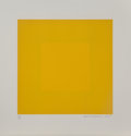 Richard Joseph Anuszkiewicz (b. 1930) Spring Suite (Yellow with Yellow), 1979 Intaglio etching with