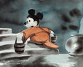 "Animation Art:Concept Art, Fantasia ""Sorcerer's Apprentice"" Mickey Mouse ConceptPainting (Walt Disney, 1940)...."