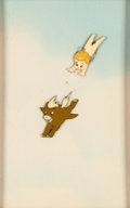 Animation Art:Production Cel, Fantasia Cupid and Pegasus Production Cel Courvoisier Setup(Walt Disney, 1940)....