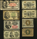 Fractional Currency:Group Lots, Eight Fractionals. Very Good or better.. ... (Total: 8 notes)