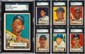 Baseball Cards:Sets, 1952 Topps Baseball Partial Set (285/407) With #311 Mantle...