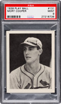 Baseball Cards:Singles (1930-1939), 1939 Play Ball Mort Cooper #131 PSA Mint 9 - Pop Two None Higher....