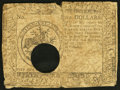 Colonial Notes:Continental Congress Issues, Continental Currency May 20, 1777 $5 Hole Cancel Good-Very Good.....