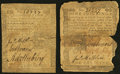 Colonial Notes:Pennsylvania, Pennsylvania April 3, 1772 1s Very Good-Fine, damaged. PennsylvaniaApril 3, 1772 18d Fine.. ... (Total: 2 notes)