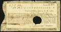 Colonial Notes:Connecticut, State of Connecticut Treasury Office June 1, 1782 Hole Cancel VeryFine.. ...