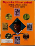 "Autographs:Photos, Hank Aaron Signed ""Sports Illustrated"" Magazine - May 25th 1970...."