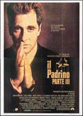 "Movie Posters:Crime, The Godfather Part III (Paramount, 1990). Italian 4 - Fogli (55.25"" X 77.5""). Crime.. ..."