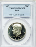 SMS Kennedy Half Dollars, 1967 50C SMS MS67 Deep Cameo PCGS. PCGS Population: (94/17). NGC Census: (184/21)....