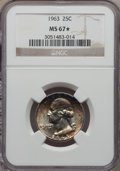 Washington Quarters, 1963 25C MS67 ★ NGC. NGC Census: (67/0 and 2/0*). PCGS Population:(29/0 and 2/0*). Mintage ...