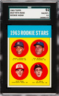 Baseball Cards:Singles (1960-1969), 1963 Topps Pete Rose - 1963 Rookie Stars #537 SGC 92 NM/MT+ 8.5....