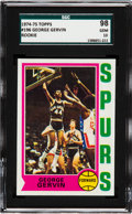 "Basketball Cards:Singles (1970-1979), 1974 Topps George Gervin #196 SGC 98 Gem 10 - The Only '74 Topps ""Gem"" Graded by SGC! ..."