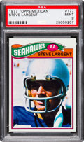 Football Cards:Singles (1970-Now), 1977 Topps Mexican Steve Largent #177 PSA Mint 9 - Pop One, None Higher! ...
