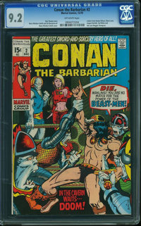 Conan the Barbarian #2 (Marvel, 1970) CGC NM- 9.2 Off-white pages