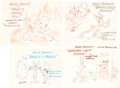 Animation Art:Concept Art, Bugs Bunny Cartoon Title Card Concept Art by Willie Ito Group of 4(Warner Brothers, c. 1950s).... (Total: 5 Items)