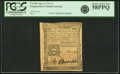 Colonial Notes:Pennsylvania, Pennsylvania April 3, 1772 1 Shilling Fr. PA-154. PCGS Choice AboutNew 58PPQ.. ...