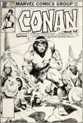 Original Comic Art:Covers, John Buscema Conan the Barbarian #124 Cover Original Art(Marvel, 1981)....