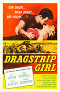 "Movie Posters:Bad Girl, Dragstrip Girl (American International, 1957). One Sheet (27"" X41"").. ..."