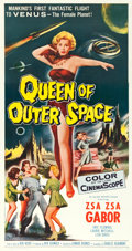 "Movie Posters:Science Fiction, Queen of Outer Space (Allied Artists, 1958). Three Sheet (41.75"" X 79"").. ..."
