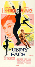 "Movie Posters:Romance, Funny Face (Paramount, 1957). Three Sheet (41.5"" X 78.5"").. ..."