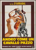 "Movie Posters:Foreign, I Will Walk Like a Crazy Horse (Gold Film, 1973). Italian 2 - Fogli (39"" X 55""). Foreign.. ..."