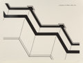 Prints:Contemporary, Robert Morris (b. 1931). Security Walls from In the Realm of theCarceral, 1978. Etching on paper. 36-3/4 x 47-3/4 inche...