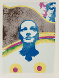 Fine Art - Work on Paper:Print, Mimmo Domenico Rotella (1918-2006). The Look, 1979.Screenprint in colors. 30-1/4 x 22 inches (76.8 x 55.9 cm) (image)....