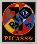 Prints:Contemporary, Robert Indiana (b. 1928)Picasso (fr...