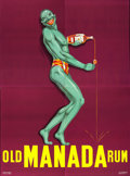 "Movie Posters:Miscellaneous, Old Manada Rum (c. 1930s). French Advertising Four Panel (95"" X 126"").. ..."