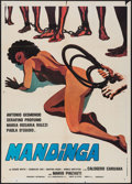 "Movie Posters:Exploitation, Mandinga (SEFI Cinematografica, 1976). Italian 2 - Fogli (39"" X 55""). Exploitation.. ..."
