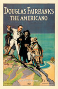 "Movie Posters:Adventure, The Americano (Tri-Stone, R-1923). One Sheet (27"" X 41"") FrancisLuis Mora Artwork.. ..."