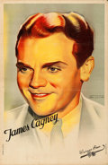 "Movie Posters:Miscellaneous, James Cagney Personality Poster (Warner Brothers, 1930s). FrenchAffiche (23.5"" X 31.5""). Jacques Bonneau Artwork.. ..."