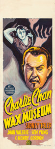 "Movie Posters:Mystery, Charlie Chan at the Wax Museum (20th Century Fox, 1940). Pre-WarAustralian Daybill (15"" X 40"").. ..."
