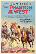 "Movie Posters:Serial, The Phantom of the West (Mascot, 1931). One Sheet (27"" X 41"")Chapter 1 -- ""The Ghost Riders."". ..."