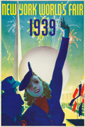"Movie Posters:Miscellaneous, New York's World's Fair Travel Poster (Grinnell Litho.Co., 1939).Poster (20"" X 30"").. ..."
