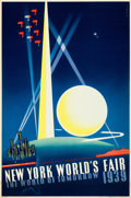 "Movie Posters:Miscellaneous, New York World's Fair 1939 Travel Poster (Grinnell Litho. Co.,1939). Poster (20"" X 30"") Joseph Binder Artwork.. ..."