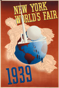 "Movie Posters:Miscellaneous, New York World's Fair Travel Poster (Grinnell Litho Co., 1939).Poster (20"" X 30"") John Atherton Artwork.. ..."