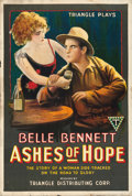 """Movie Posters:Western, Ashes of Hope (Triangle, 1917). Folded, Fine+. One Sheet (27.25"""" X 41""""). Western.. ..."""