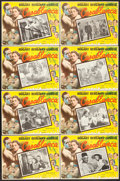 """Movie Posters:Academy Award Winners, Casablanca (United Artists, R-Early 1960s). Mexican Lobby Card Setof 8 (12.5 X 16.5"""").. ... (Total: 8 Items)"""