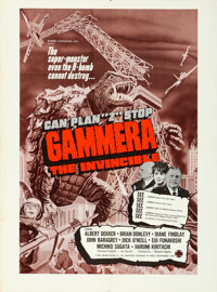 """Gammera the Invincible (World Entertainment, 1966). One Sheet (29.75"""" X 40.5"""")"""
