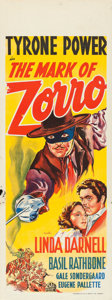 "Movie Posters:Swashbuckler, The Mark of Zorro (20th Century Fox, 1940). Australian Daybill (15""X 40"").. ..."