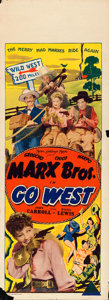 "Movie Posters:Comedy, Go West (MGM, 1940). Australian Pre-War Daybill (15"" X 40"").. ..."