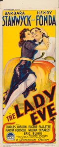 "Movie Posters:Comedy, The Lady Eve (Paramount, 1941). Australian Daybill (15"" X 38"")....."