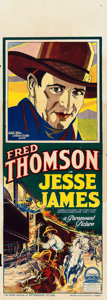 "Movie Posters:Western, Jesse James (Paramount, 1927). Pre-War Australian Daybill (14.5"" X40"").. ..."