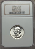 Washington Quarters, 1961 25C MS67 NGC. NGC Census: (35/0). PCGS Population: (11/0).Mintage 37,000,000. . From The Michael C. Hollen Colle...