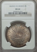 Mexico, Mexico: Republic 8 Reales 1869 Mo-CH MS64 NGC,...