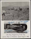 Autographs:Others, Enola Gay World War II Crew Signed Photo - Four Crew Members. ...