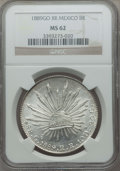 Mexico, Mexico: Republic 8 Reales 1889 Go-RR MS62 NGC,...