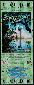Football Collectibles:Tickets, 1997 Super Bowl XXXI Full Ticket Signed by Desmond Howard - Green Bay Packers vs. New England Patriots. ...