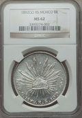 Mexico, Mexico: Republic 8 Reales 1892 Go-RS MS62 NGC,...